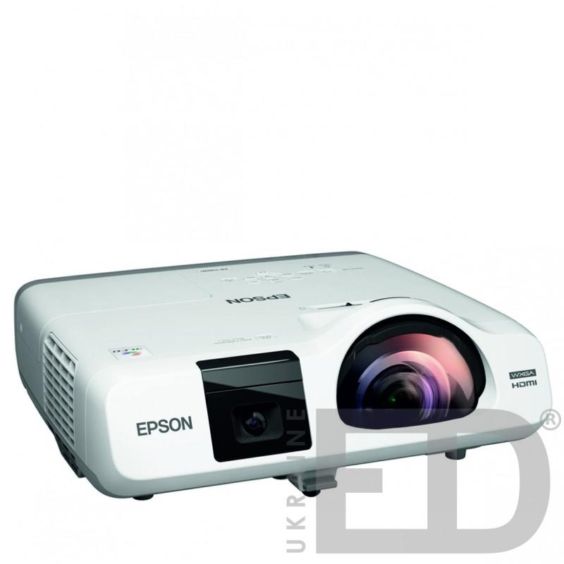 Інтерактивний проектор EPSON EB-536WI з кріпленням та жорстким проекційним екраном