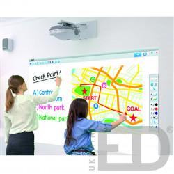 Інтерактивний проектор EPSON EB-536WI з кріпленням та жорстким проекційним екраном 1