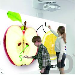 Інтерактивний проектор EPSON EB-536WI з кріпленням та жорстким проекційним екраном 2