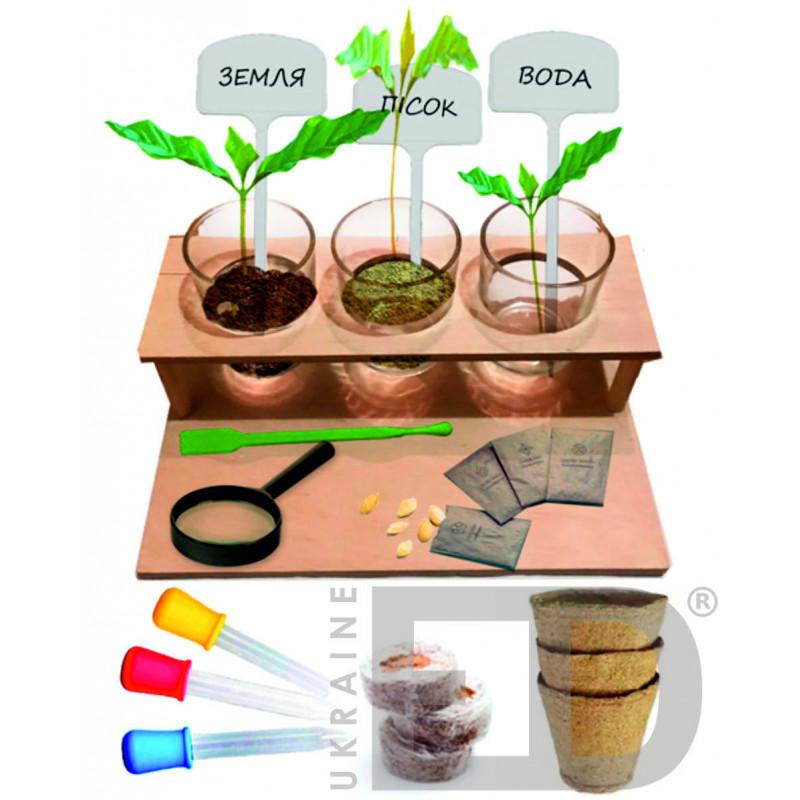 Набір лабораторний з природознавства (досліди з рослинами)