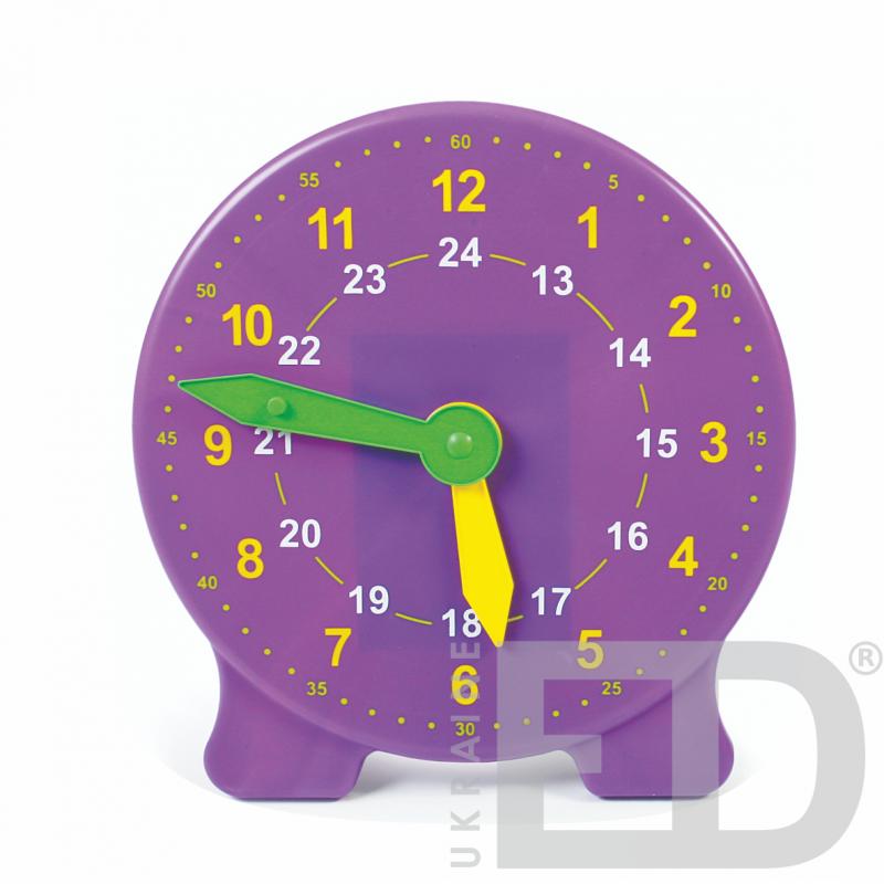 Лабораторна модель механічного годинника, настільна (24 години, годинна, хвилинна стрілки, лабораторна)