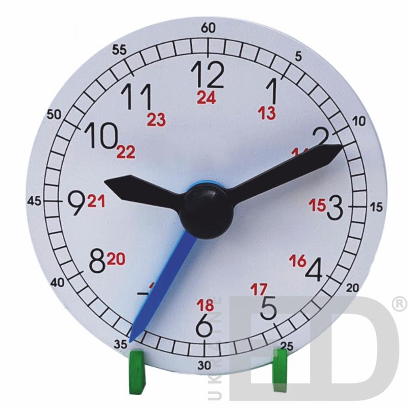 Лабораторна модель механічного годинника, настільна(24 години, годинна, хвилинна, секундна стрілки) дерев'яна