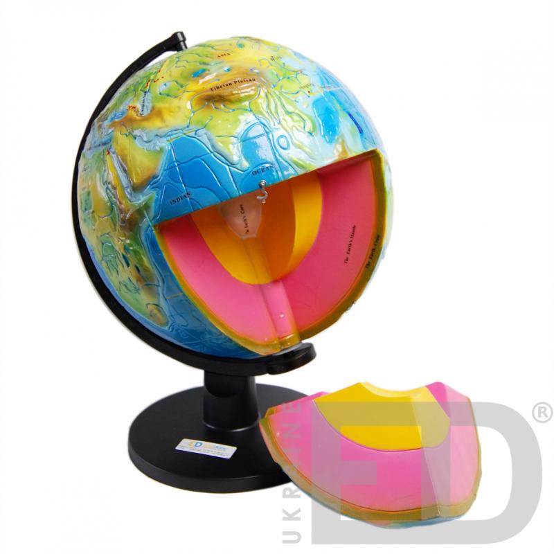 """Глобус-модель""""Будова Землі"""" (розбірна). Діаметр: 320 мм"""