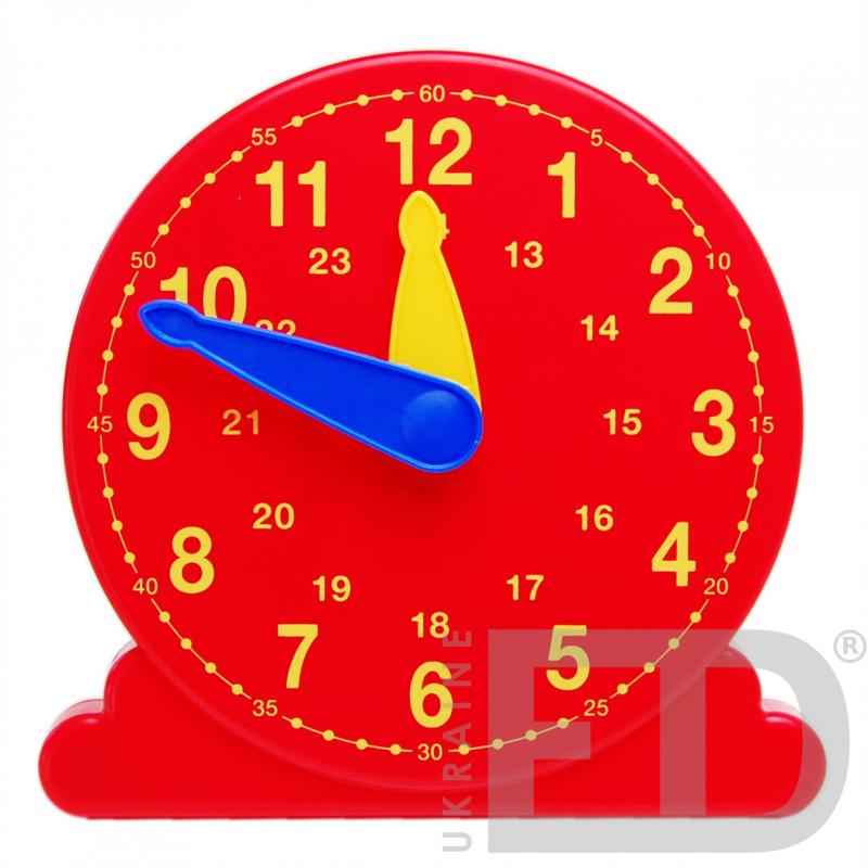 Лабораторна модель механічного годинника, настільна (24 години, годинна, хвилинна стрілки)