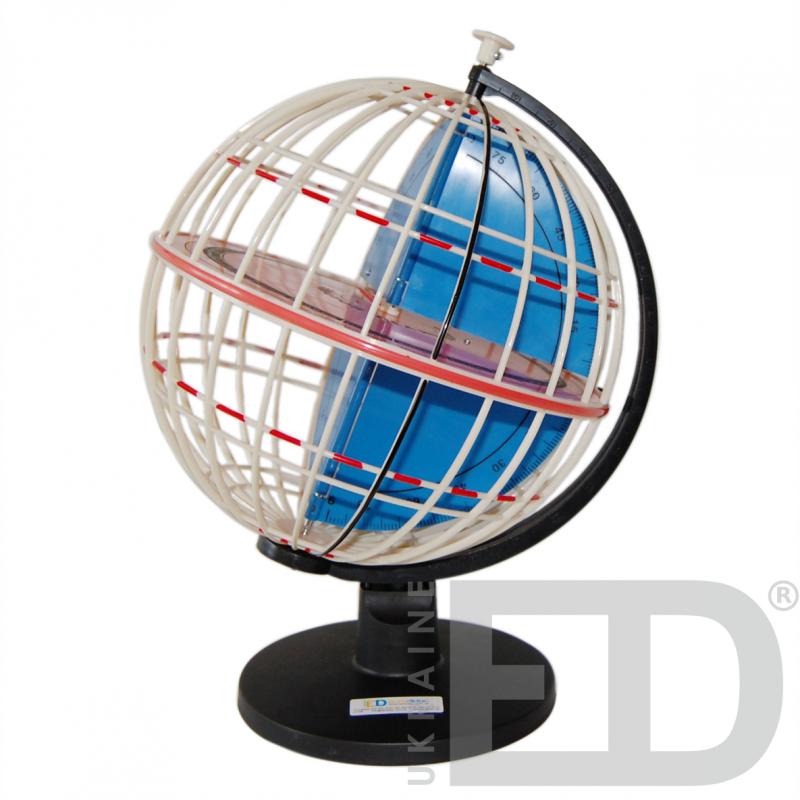 "Глобус-модель ""Паралелі та меридіани Землі"" . Діаметр: 320 мм"