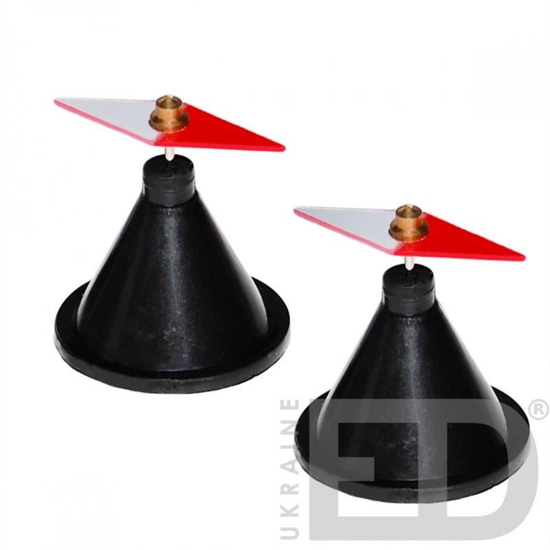 Стрілки магнітні на підставці лабораторні (пара)