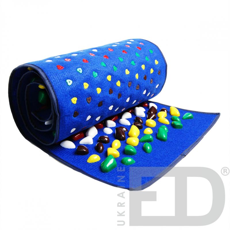 Килимок масажний з кольоровими каменями (170х40см)