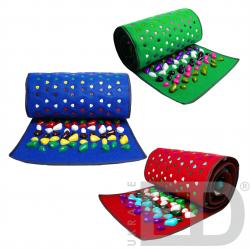 Килимок масажний з кольоровими каменями (170х40см) 1