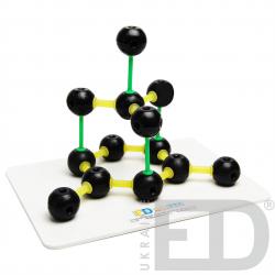 Модель кристалічної гратки графіту (С)