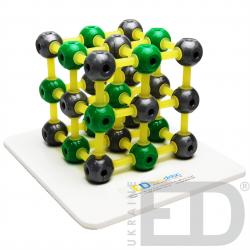 Модель кристалічної гратки кам'яної солі (NaCl)