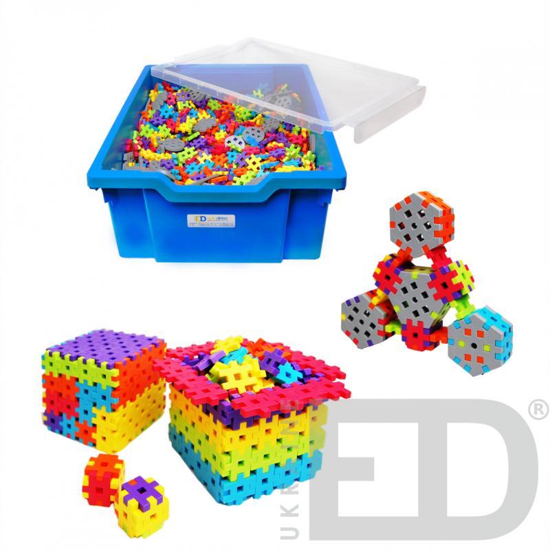 Набір для конструювання з різними способами з'єднання деталей (Мелі, м'який пластик 2200 деталей)