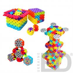 Набір для конструювання з різними способами з'єднання деталей (Мелі, м'який пластик 2200 деталей) 1