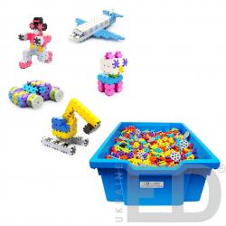 Набір для конструювання з різними способами з'єднання деталей (Мелі, м'який пластик 2200 деталей) 2