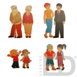 Набір ляльок різної статі та різного віку 1
