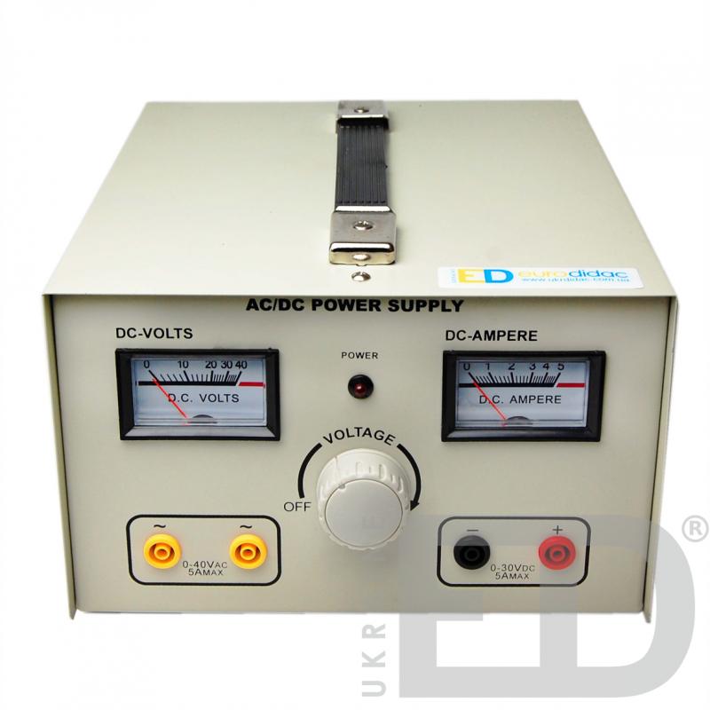 Блок живлення демонстраційний (постійна стабілізована та змінна вихідна напруга)