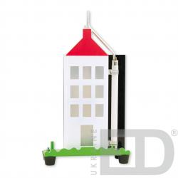 Модель будинку з громовідводом