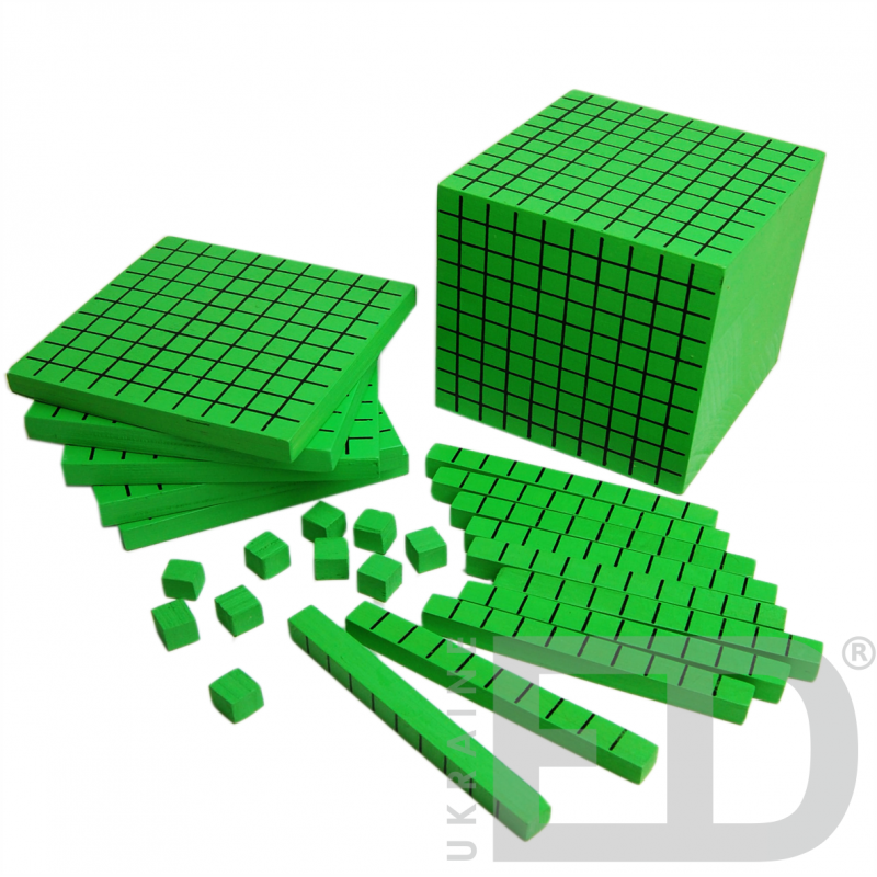 """Набір """"Одиниці об'єму"""" (математичний куб, дерево)"""