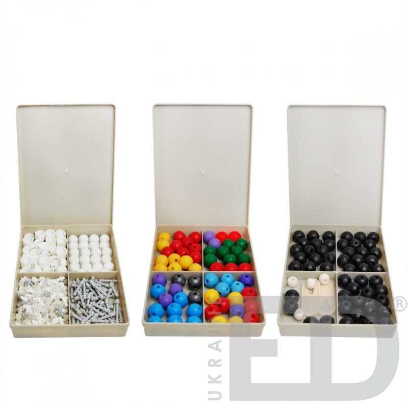Набір моделей атомів для складання молекул (дем.)