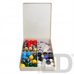 Комплект моделей атомів для складання молекул (лаб.)