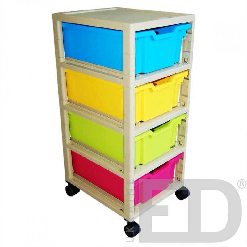 Візок пластиковий для зберігання дидактичного матеріалу (на 4 скрині F2)