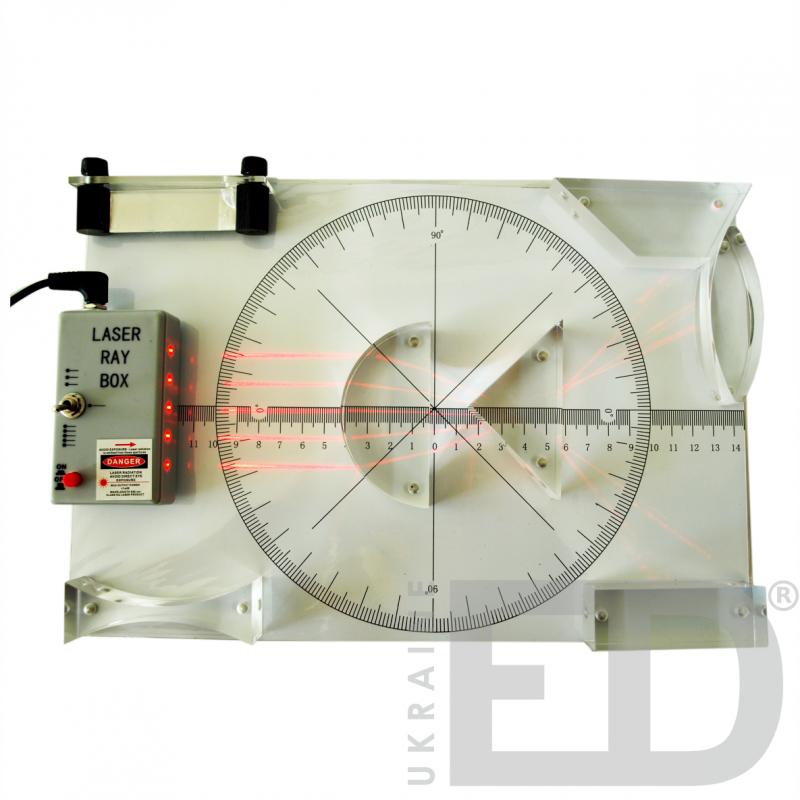 Набір лазерний з геометричної оптики з магнітним кріпленням