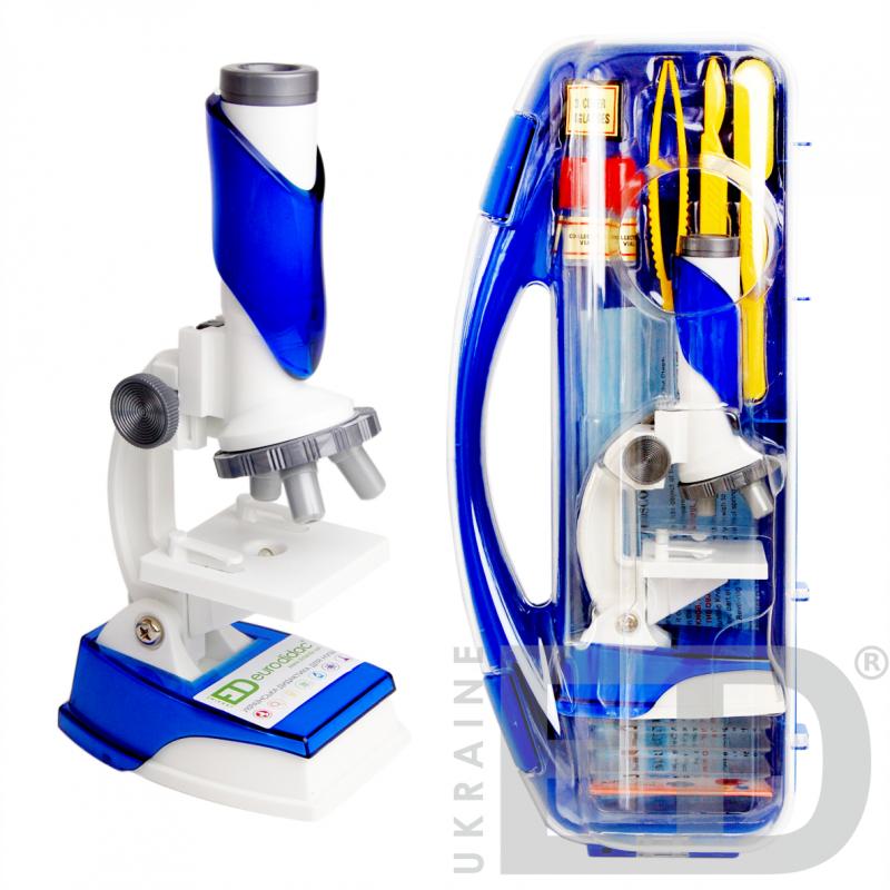 Мікроскоп з LED підсвіткою (набір в кейсі)