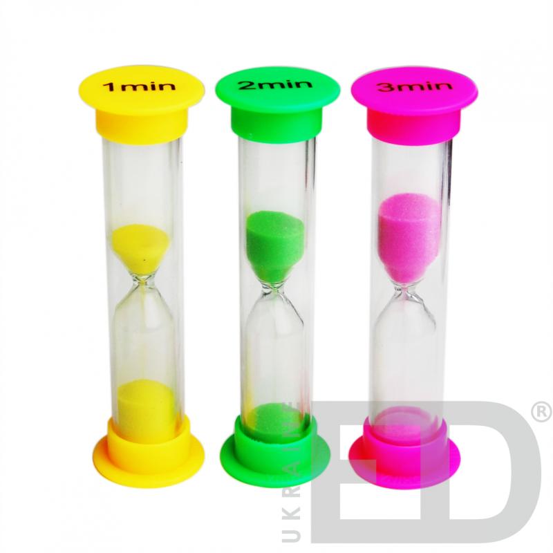 Набір годинників пісочних (1, 2, 3 хвилин)