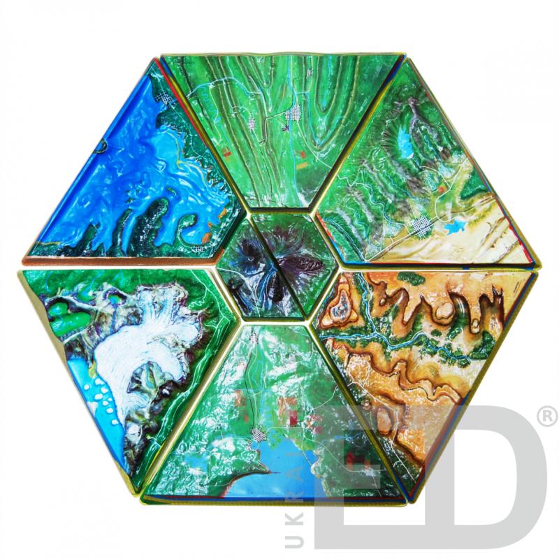 Географічна модель (8 частин з мобільною стійкою)