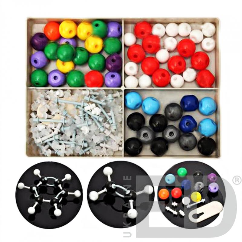 Набір моделей атомів для складання органічних та неорганічних молекул (дем.)