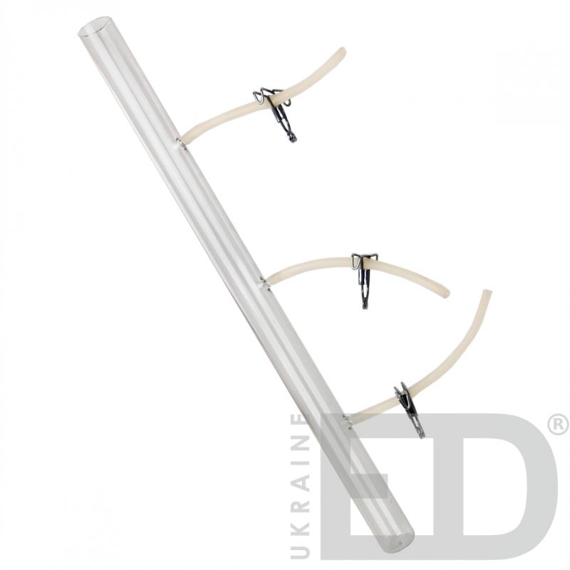Прилад для демонстрації тиску в рідині в залежності від висоти стовпа