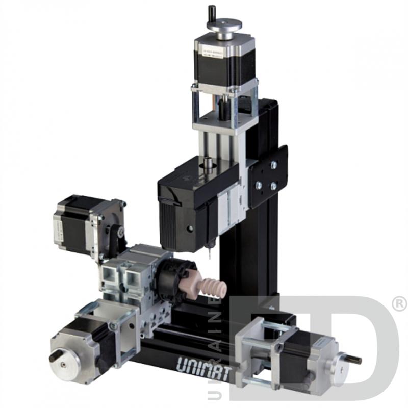 Цифровий фрезерувально-токарний верстат з ЧПУ «Унімат CNC» (4 станки в наборі).