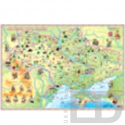 Дитяча карта України на планках