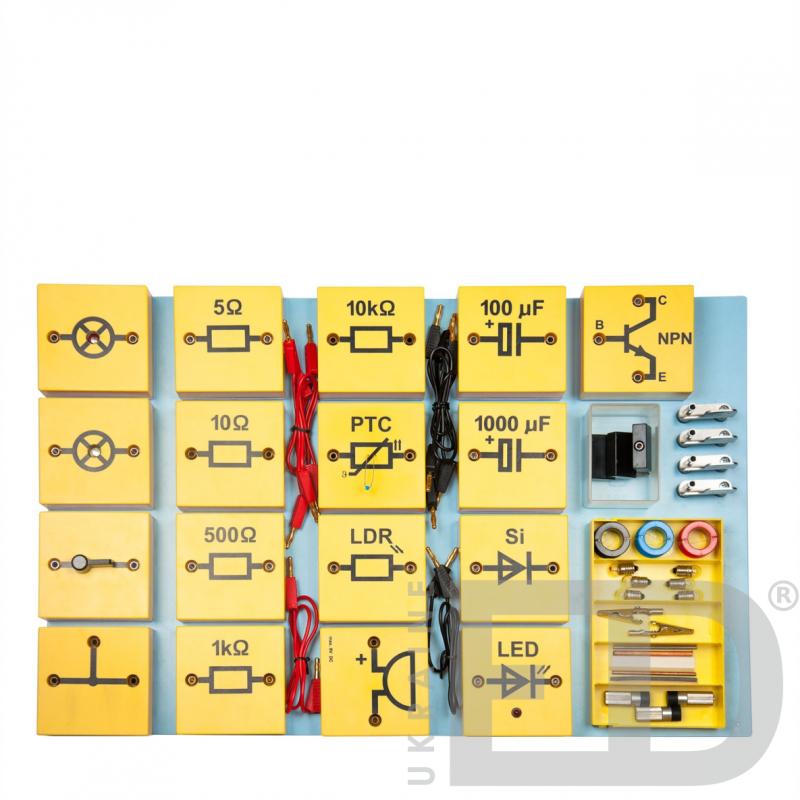 Електрика + електроніка (базовий набір): набір демонстраційний для вивчення електрики