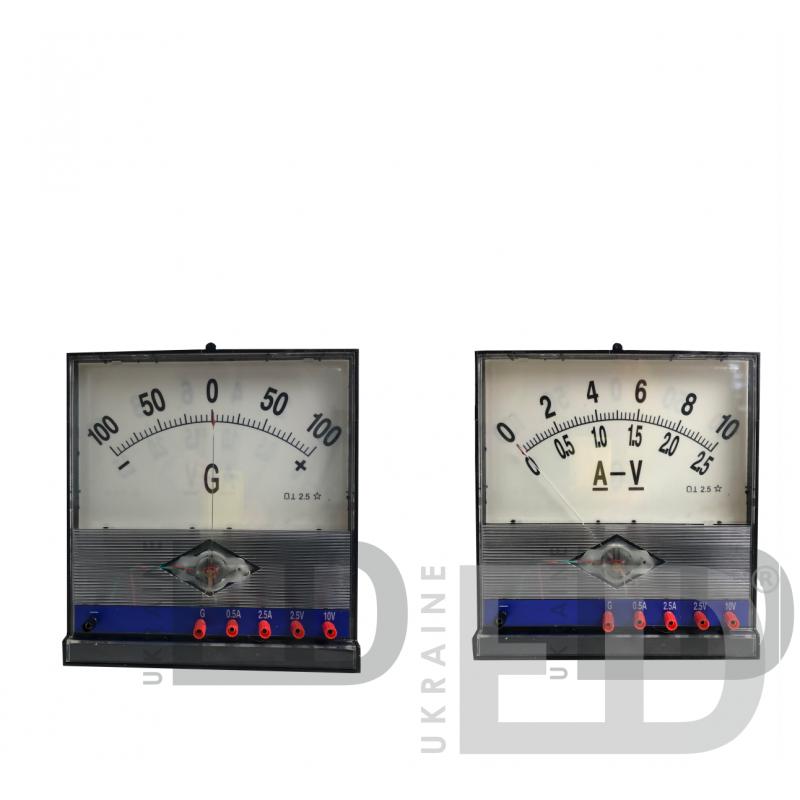 Ампервольметр стрілочний (Мультиметр аналоговий) з гальванометром демонстраційний