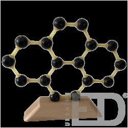 Модель кристалічної гратки графену (С) (STEM)