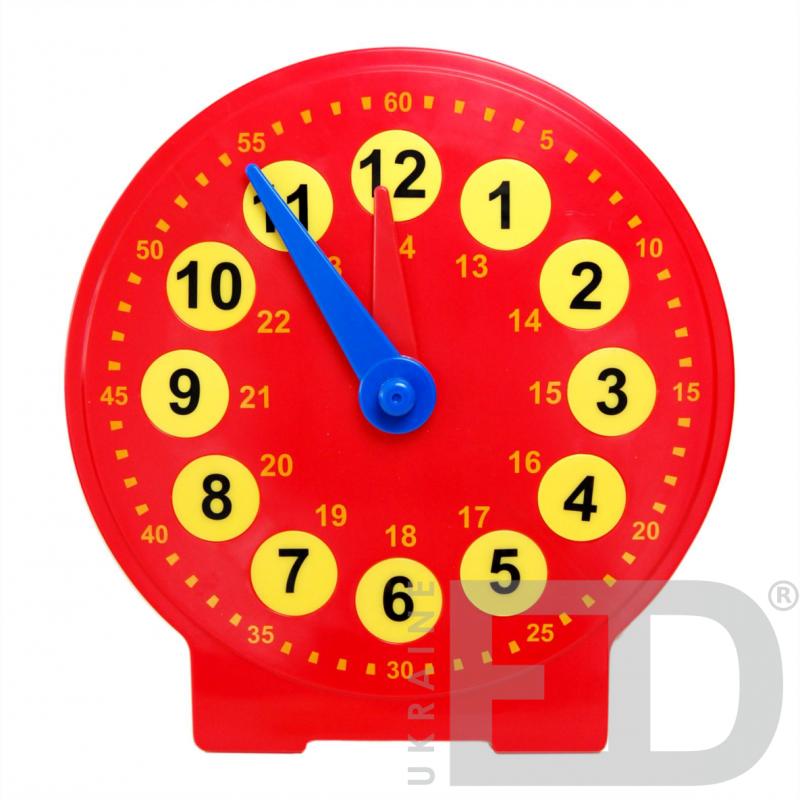 Демонстраційна модель механічного годинника (24 години, годинна та хвилинна стрілки, змінна шкала)