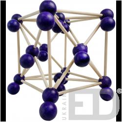 Модель кристалічної гратки йоду  (STEM)