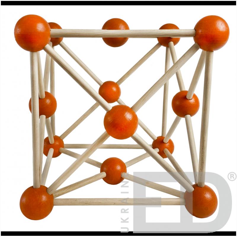 Модель кристалічної гратки міді (Cu) (STEM)