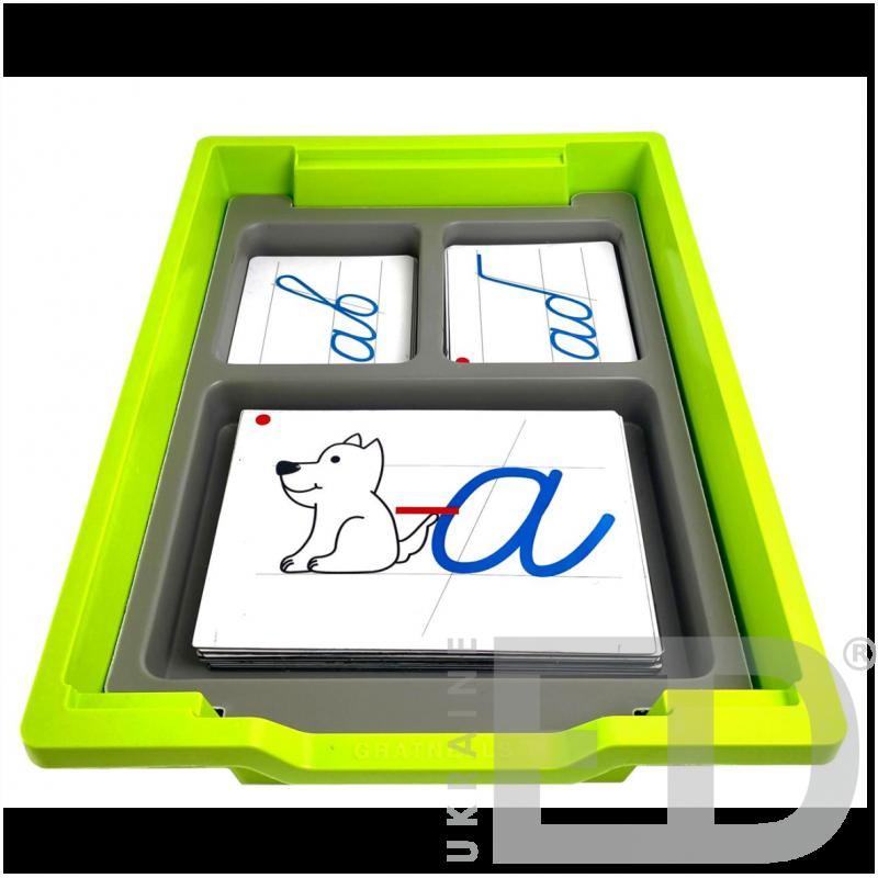 Комплект навчально-наочних засобів для навчання грамоти/письма (на магнітах)