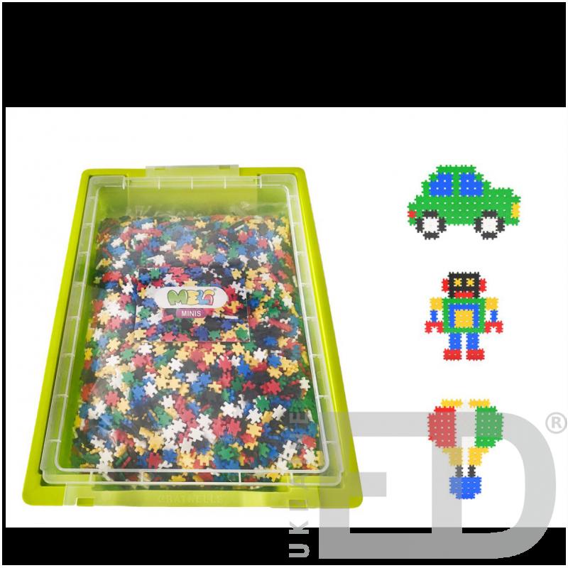 Ігровий набір для конструювання з різними способами з'єднання деталей (м'який пластик 6200 деталей)